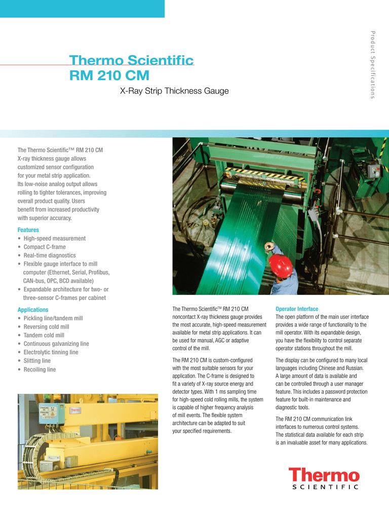 RM 210 CM X-ray Strip Thickness Gauge | manualzz com