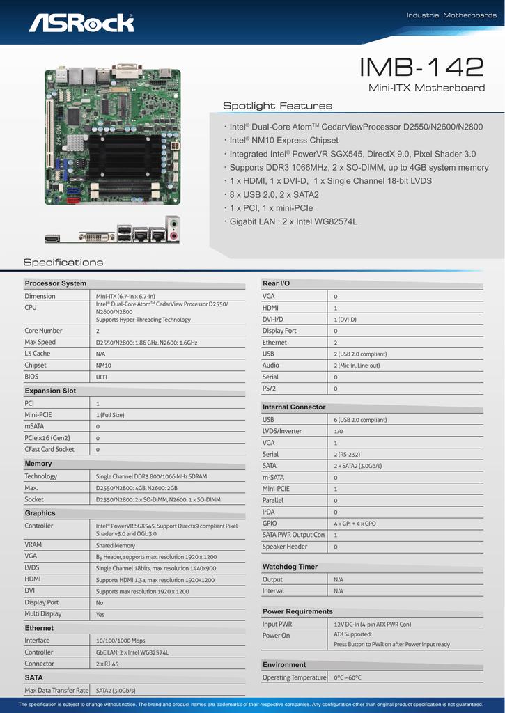 ASRock IMB-140D Plus SATA Drivers for Windows Mac