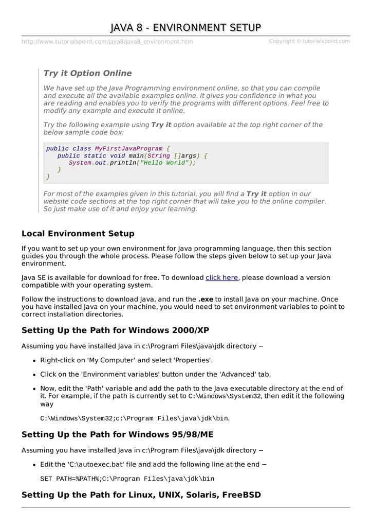 Scaricare hook up per Java