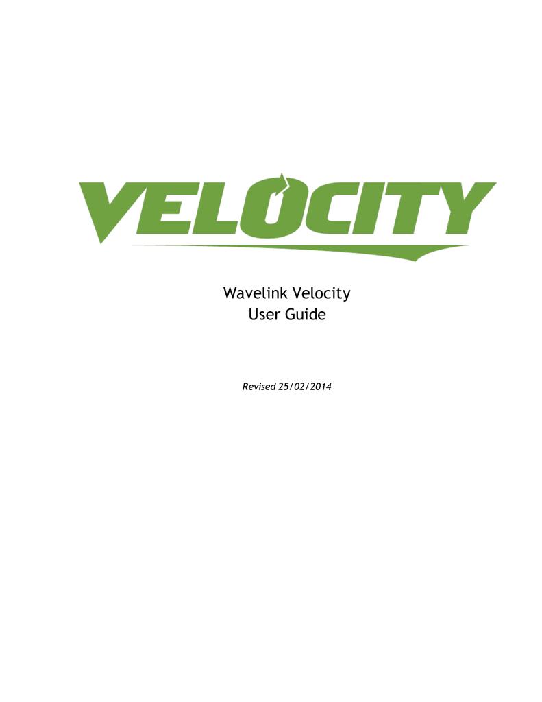 Velocity ug 25022014   manualzz com