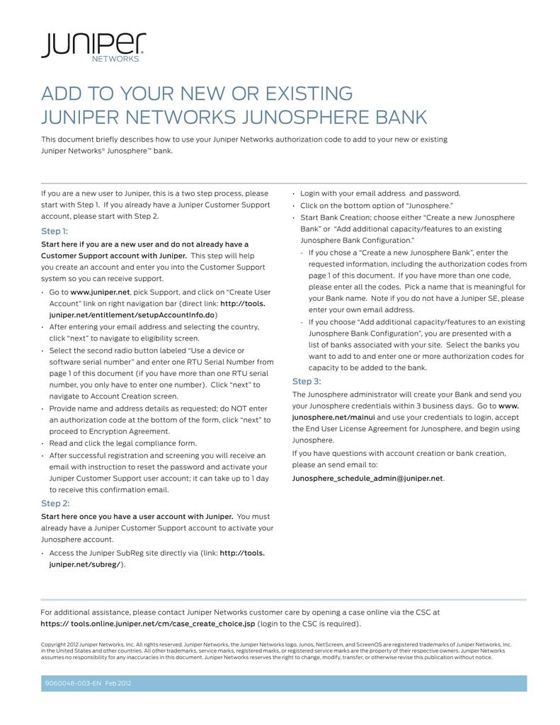 Junosphere Bank | manualzz com