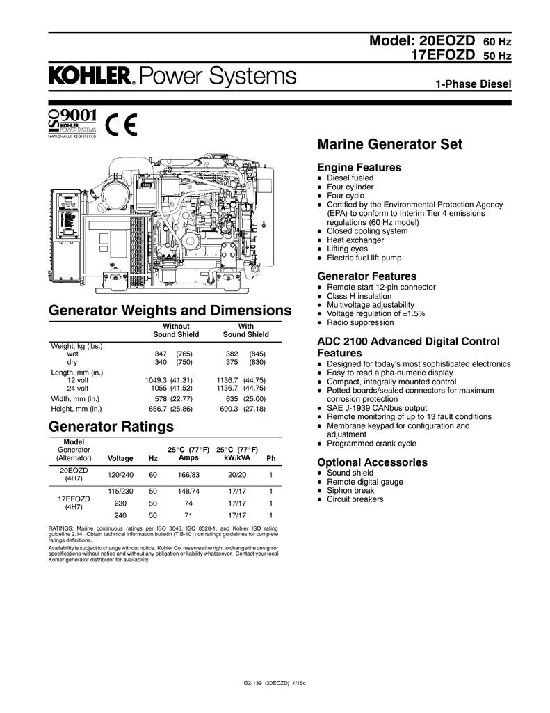 model: 20eozd 17efozd marine generator set 60 hz | manualzz  manualzz