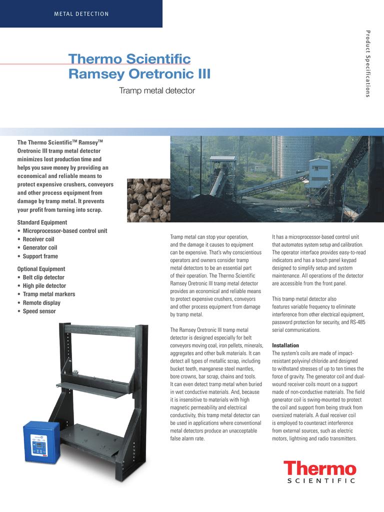 Ramsey Oretronic III Tramp Metal Detector | manualzz com