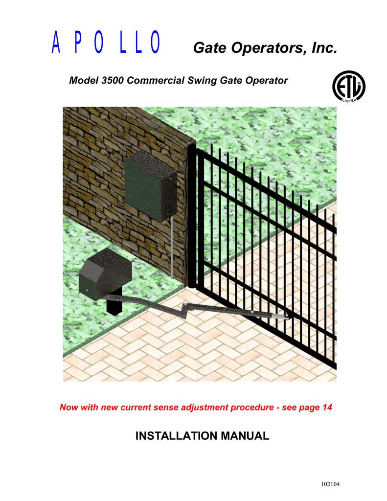 Apollo Gate Operators Inc Installation Manual Manualzz Com