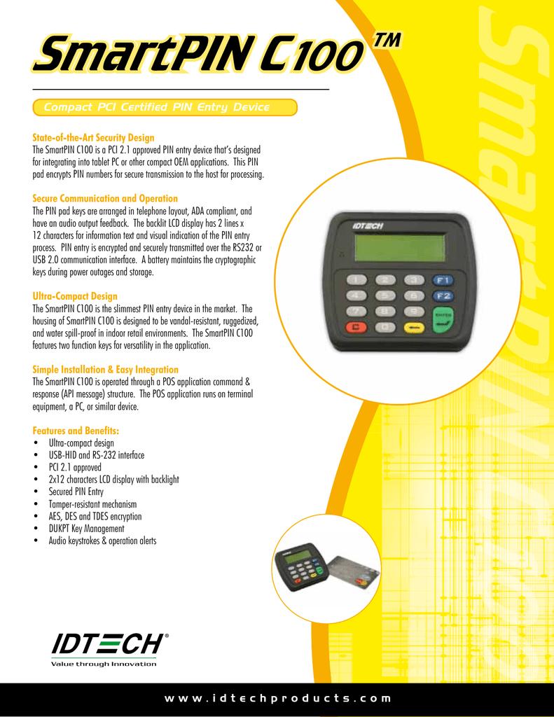 SmartPIN C100 ™   manualzz com