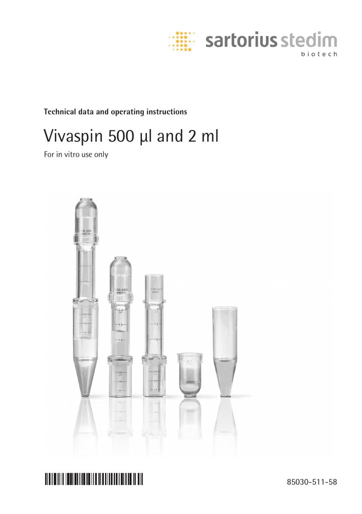 10K MWCO Sartorius VS0101 Vivaspin 500 Concentrator Pack of 25