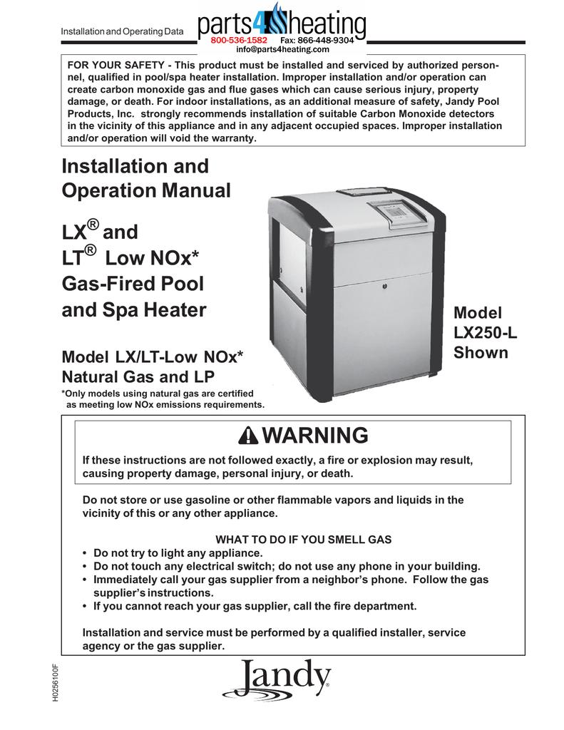 Low NOx Manual - Manualzz