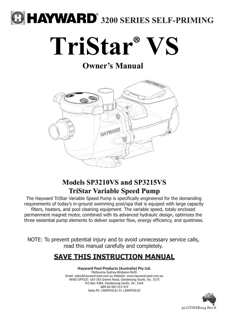 TriStar VS ® 3200 SERIES SELF-PRIMING Owner's Manual ... on