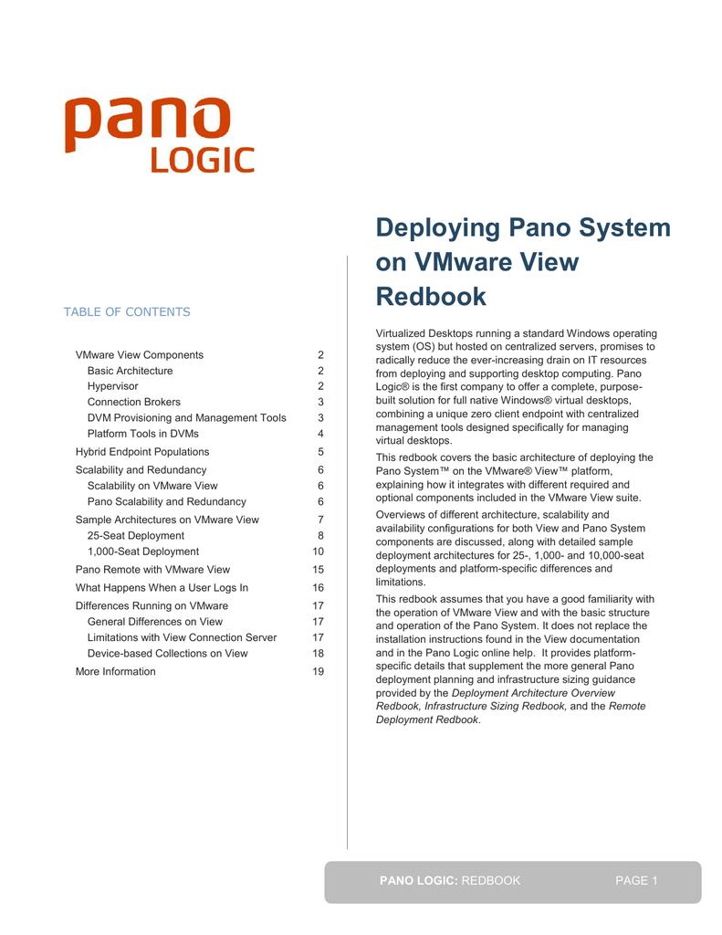 Pano on VMware Redbook | manualzz com