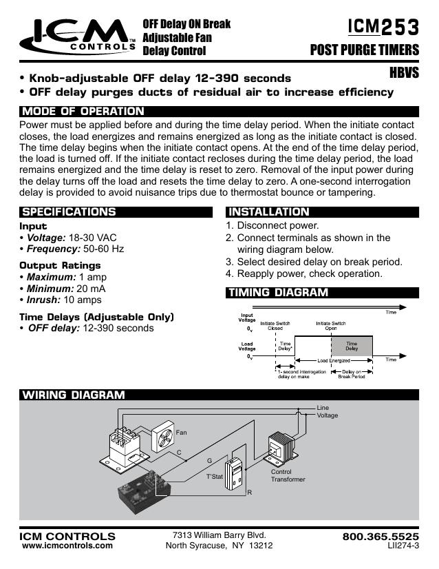 253 ICM POST PURGE TIMERS   manualzz.com Icm Timer Wiring Diagram on