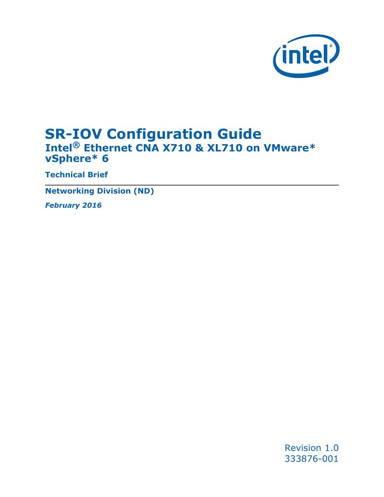 SR-IOV Configuration Guide Intel Ethernet CNA X710 &