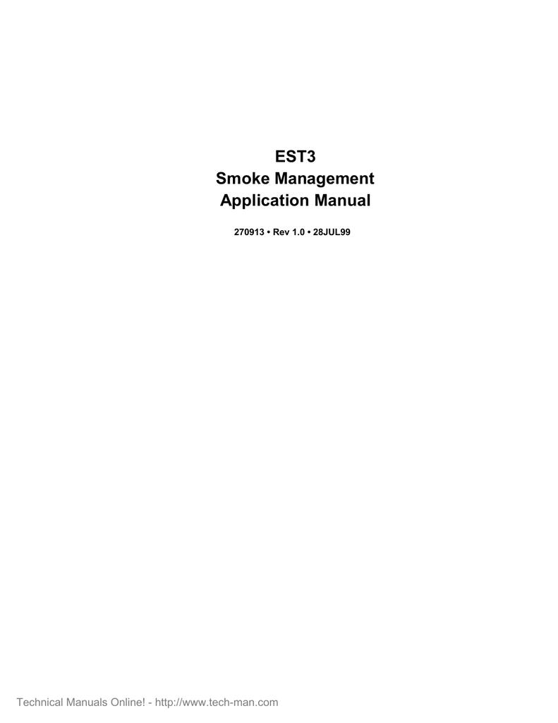 Est Est3 V1 0 Smoke Management Application Manual Manualzz