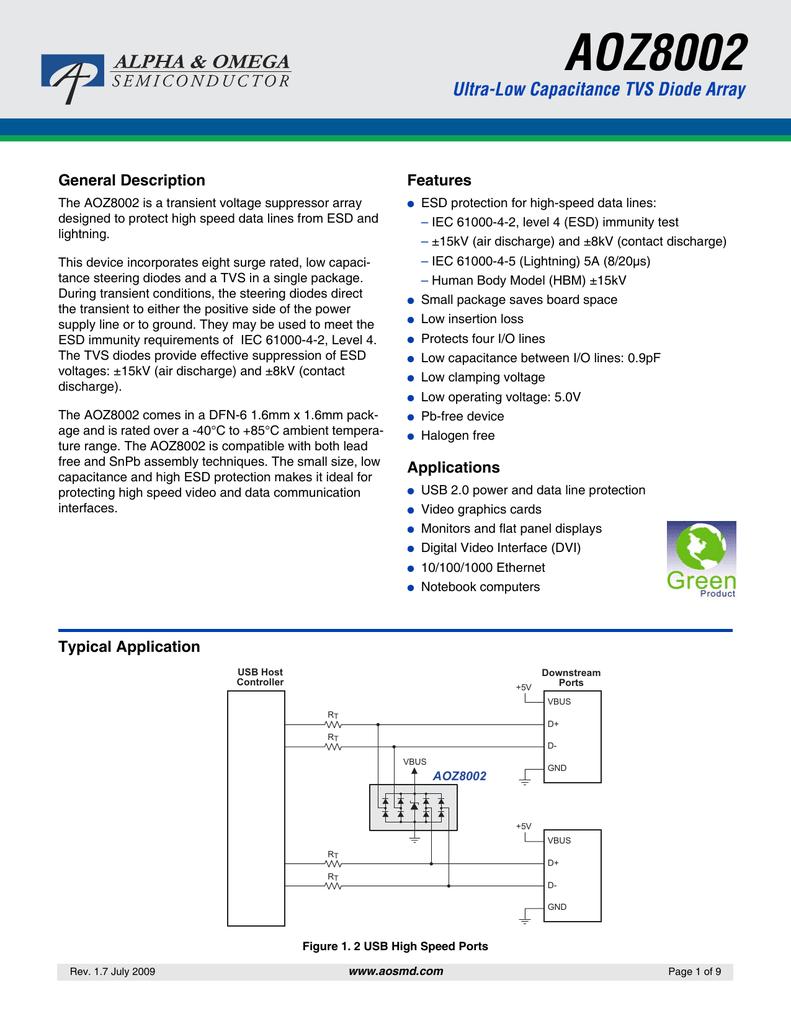 1 piece TVS Diode Arrays Transient Voltage Suppressor