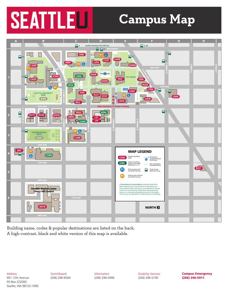 SU campus map   manualzz.com
