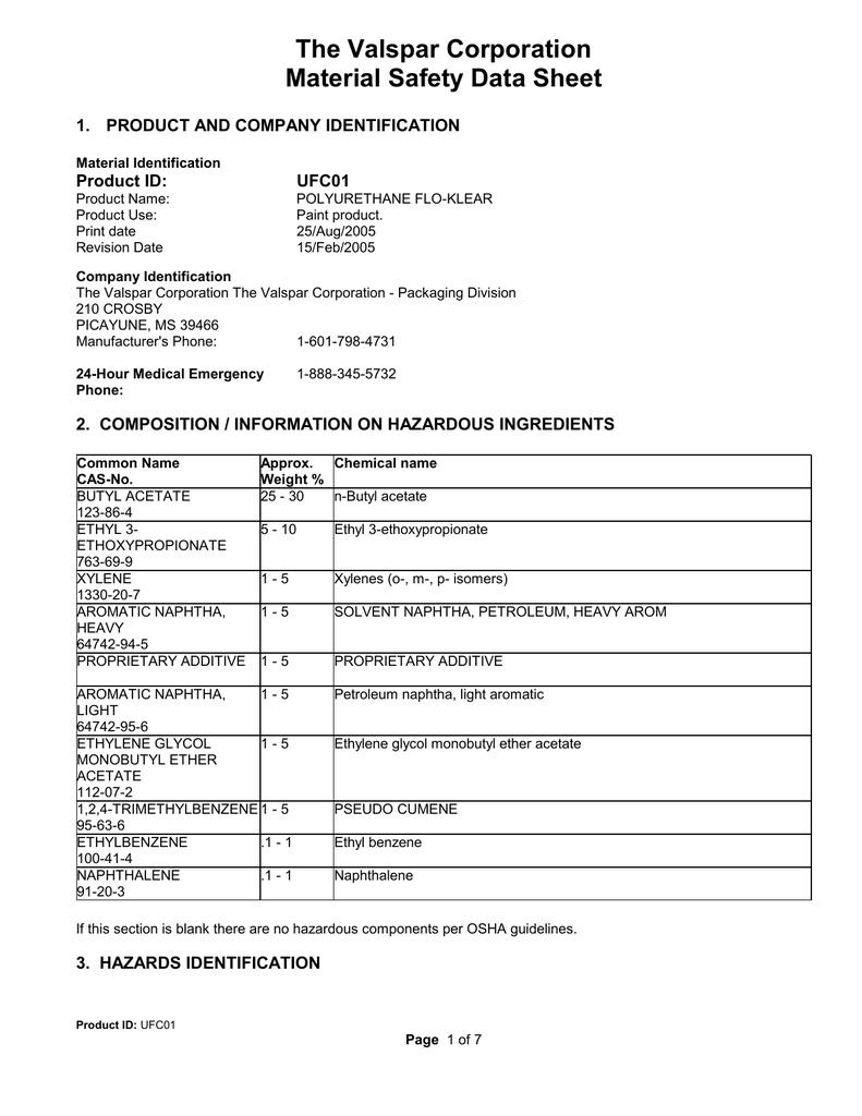 UFC01 - Polyurethane Flo | manualzz com