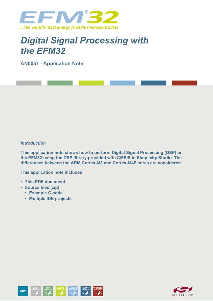 AN0051: Digital Signal Processing with EFM32   manualzz com