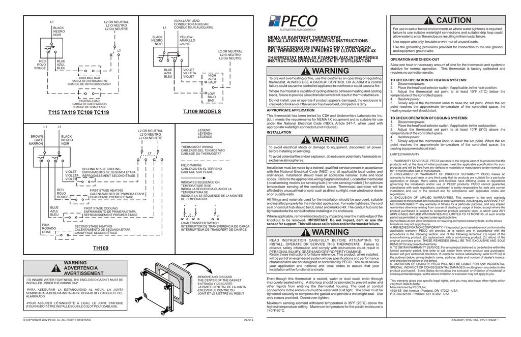 PECO TF115-001 Installation Guide | ManualzzManualzz