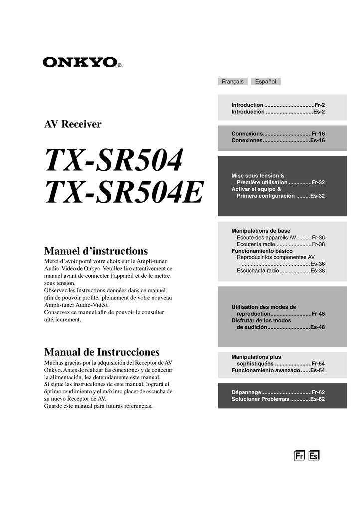 TX-SR504_FrEs_Web_ | manualzz.com