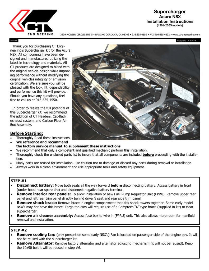 Nsx Sc Autorotor Install Honda Wiring Harness