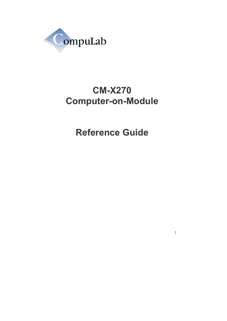 CM-X270 Reference Guide | manualzz com