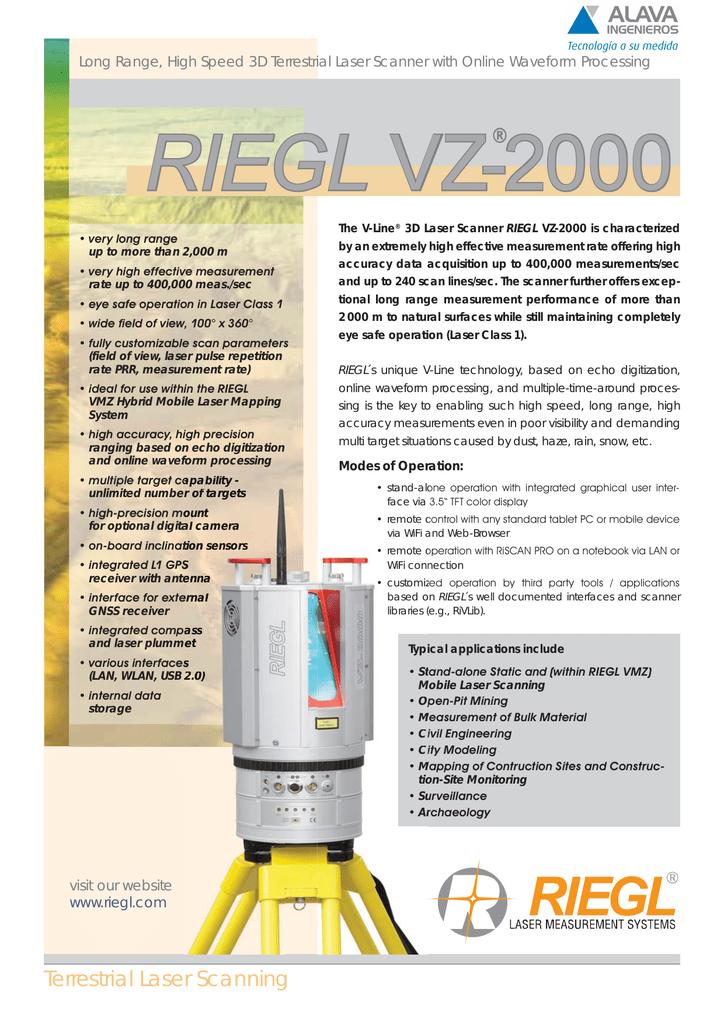 RIEGL VZ-2000 | manualzz com