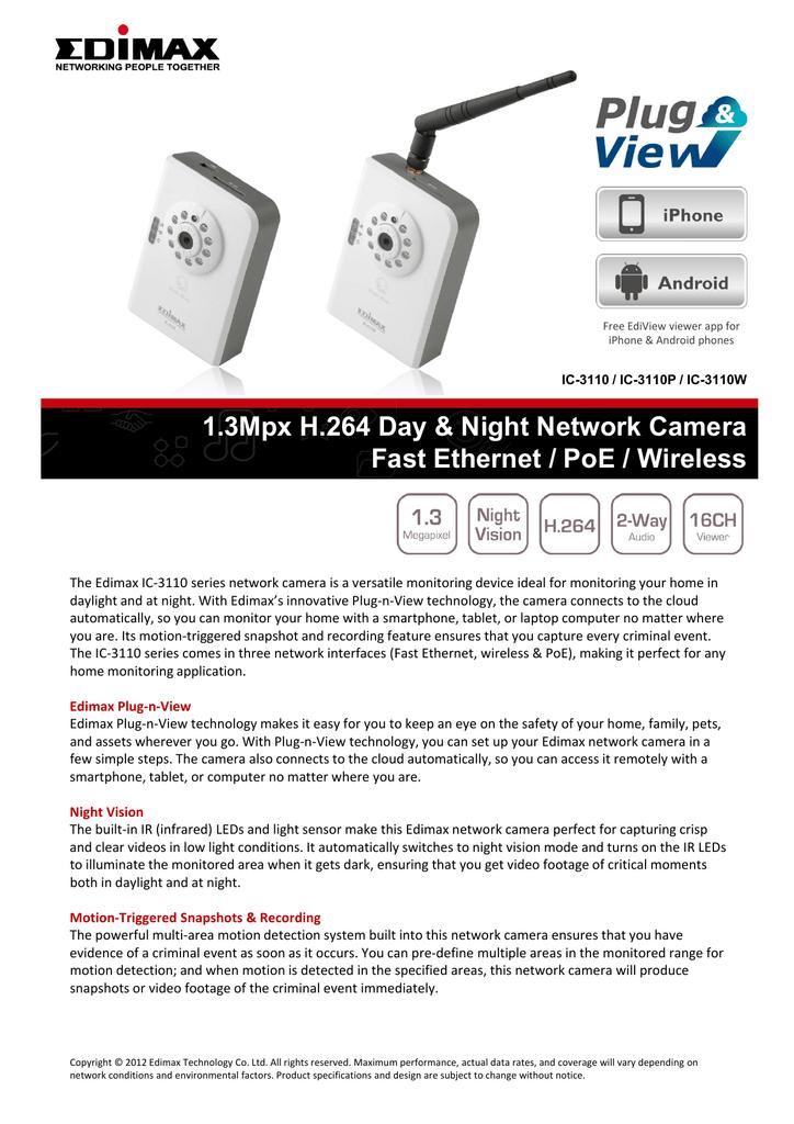 EDIMAX IC-3110 NETWORK CAMERA DRIVER WINDOWS 7 (2019)