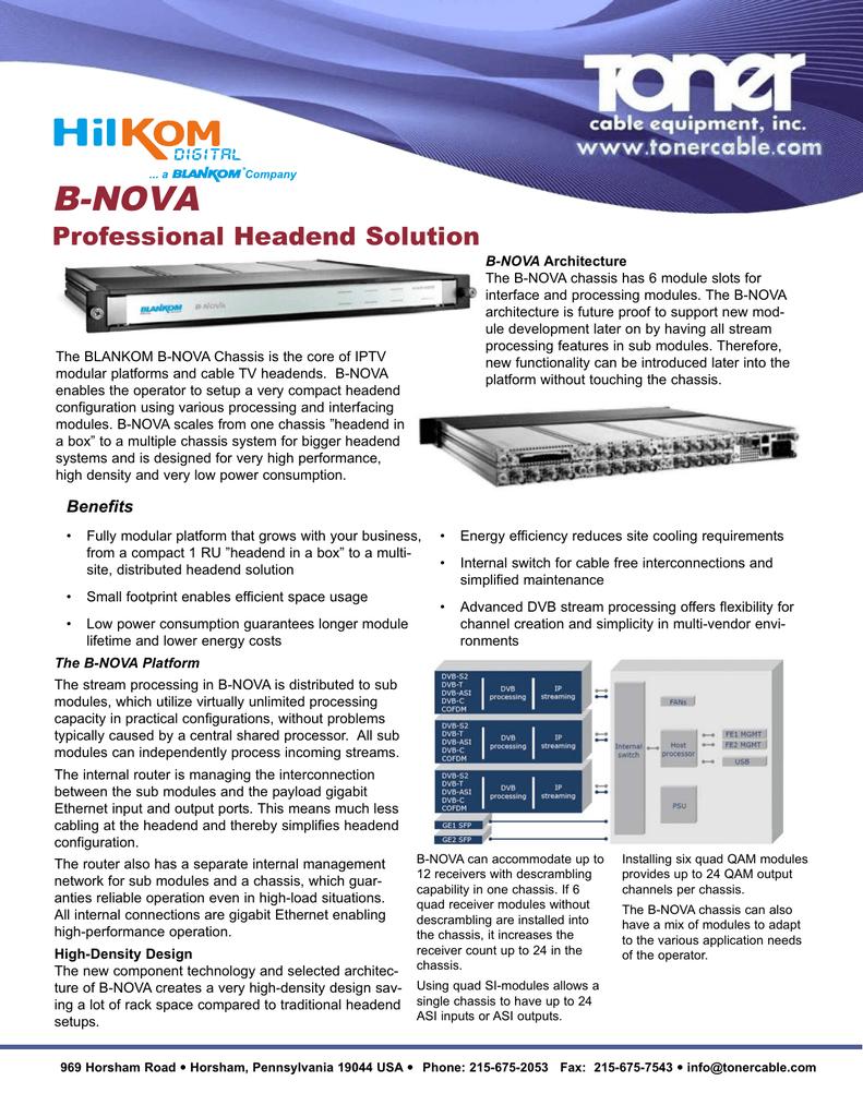 B-NOVA Professional Headend Solution   manualzz com
