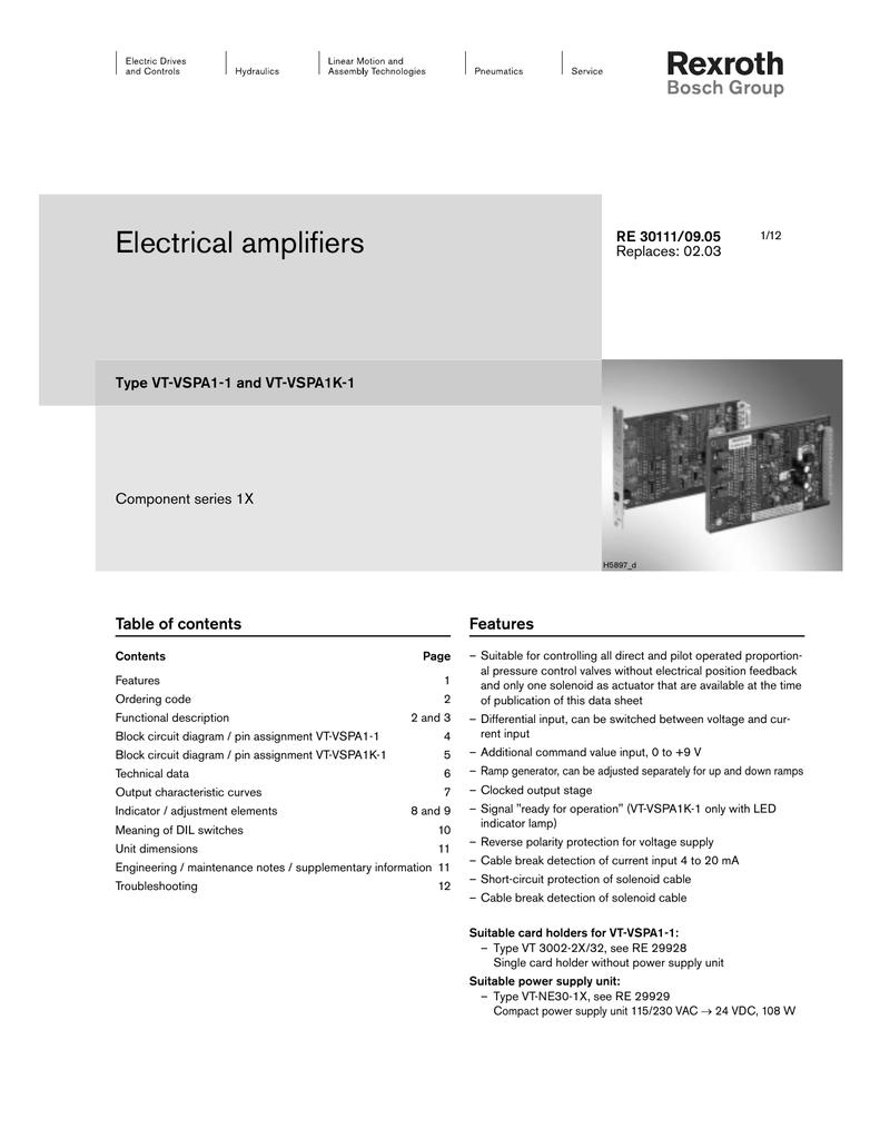 Rexroth 6x proportional card | manualzz com