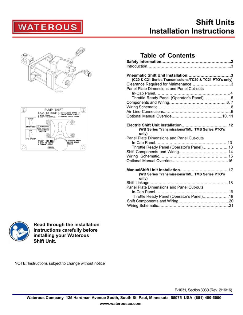 Sec. 3030, Pump Shift Installation | manualzz.com on