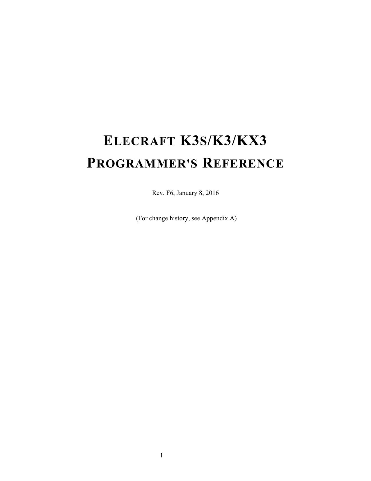 K3S / K3 / KX3 Programmers Reference | manualzz.com Kx Schematic on