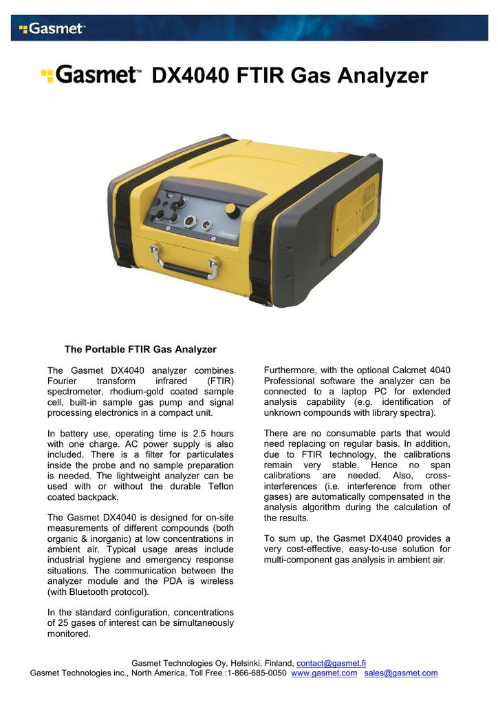 Gasmet DX4040 ds v1 2 | manualzz com