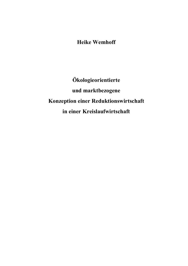 Heike Wemhoff Reduktionswirtschaft | manualzz.com