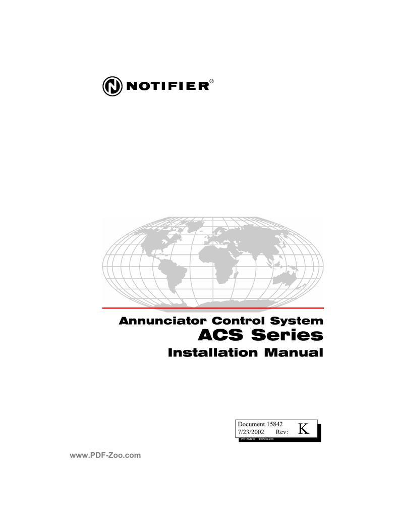 Notifier ACS Series Annunciator Control Systems | manualzz com