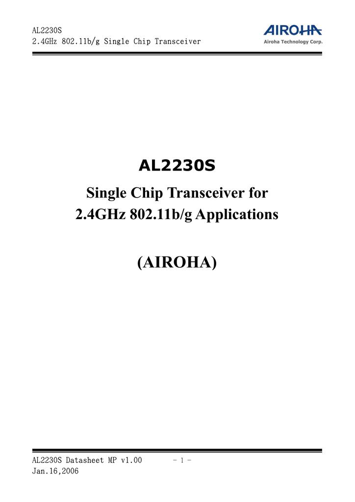 AIROHA AL2230 WINDOWS 10 DOWNLOAD DRIVER