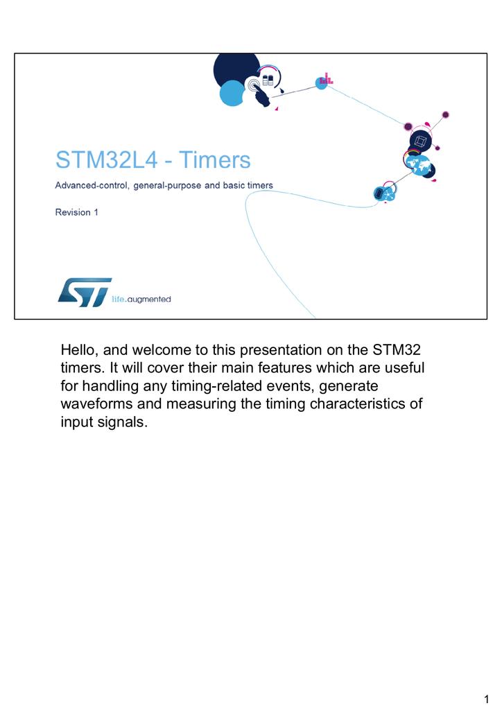 STM32L4 WDG TIMERS GPTIM | manualzz com