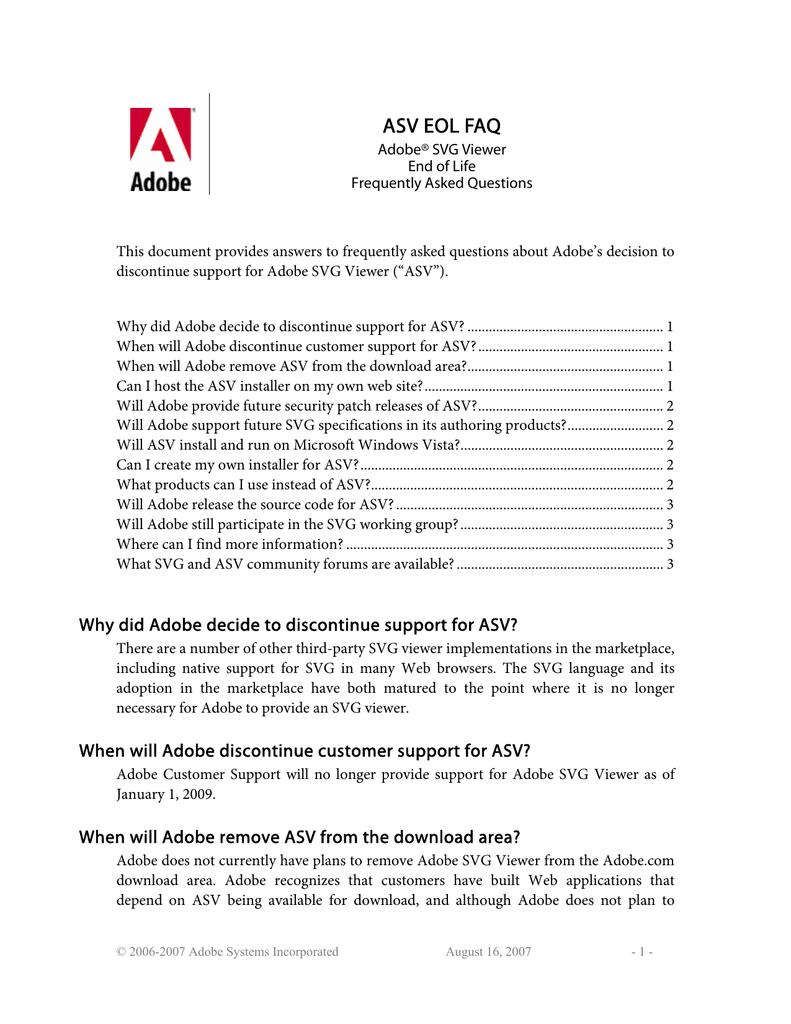 Adobe SVG Viewer End of Life FAQ  | manualzz com