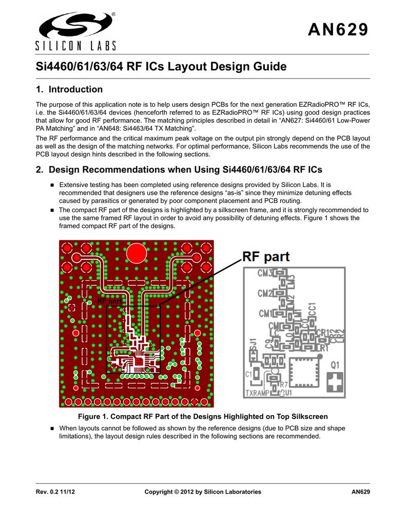 Si4460/61/63/64 RF ICs Layout Design Guide ( PDF ) 1 Мб