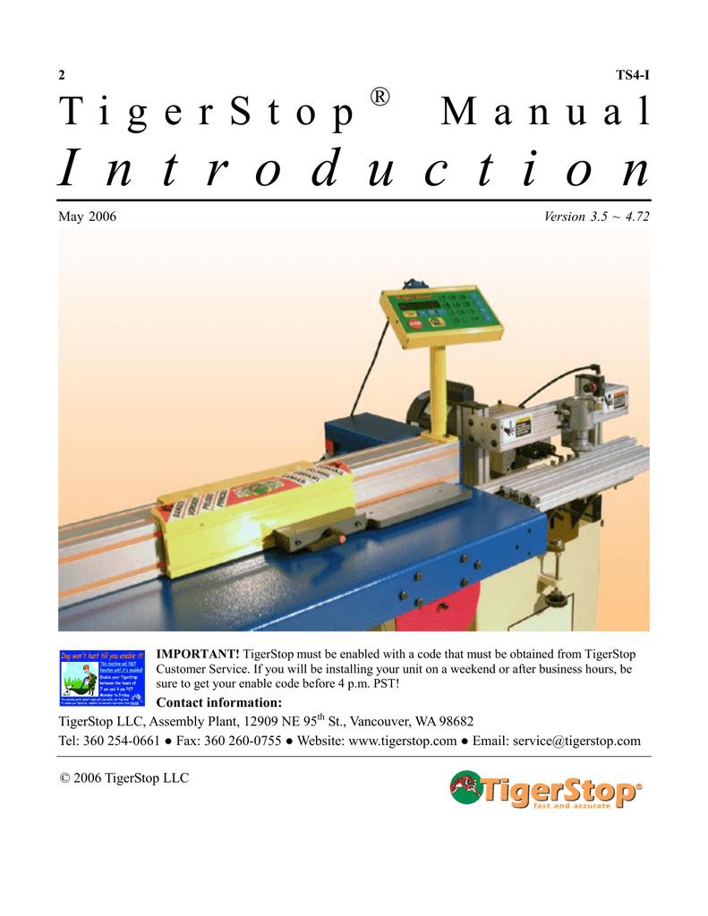 Tigerstop Installation Guide Version 3 5