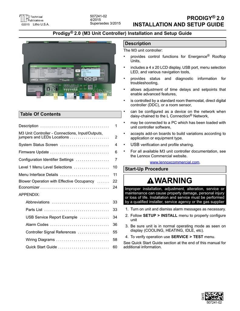 Prodigy 20 Insl Stup Manual 4 Master Flow H1 Humidistat Wiring Diagram