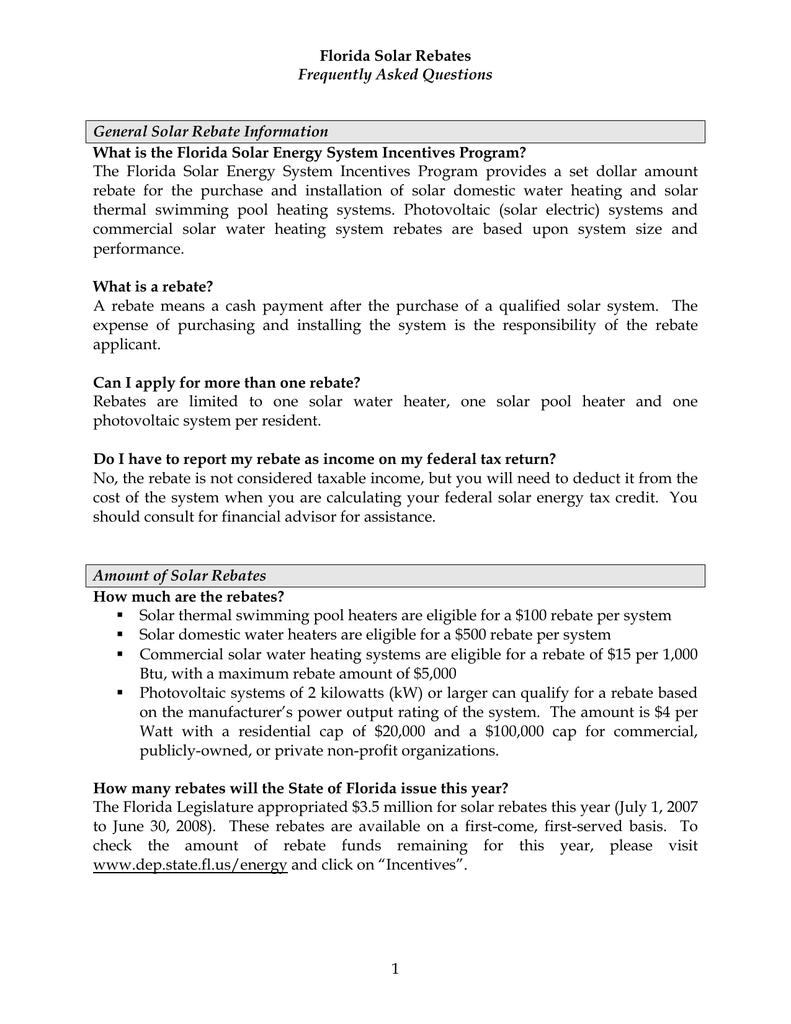 Florida Rebate FAQ   manualzz com