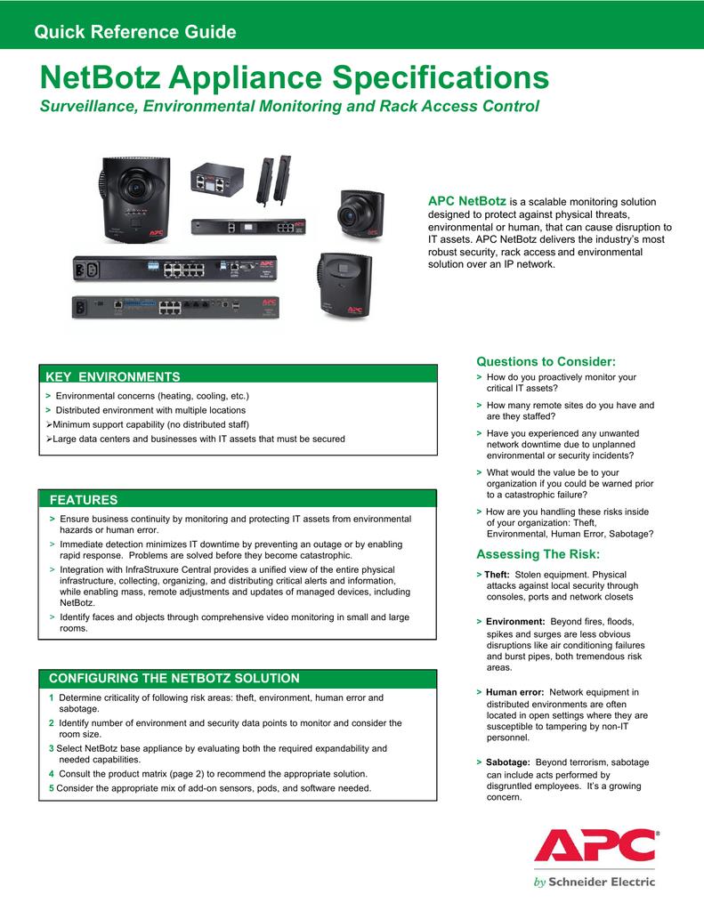 65kb PDF) Click here to NetBotz 500 spec sheet | manualzz com