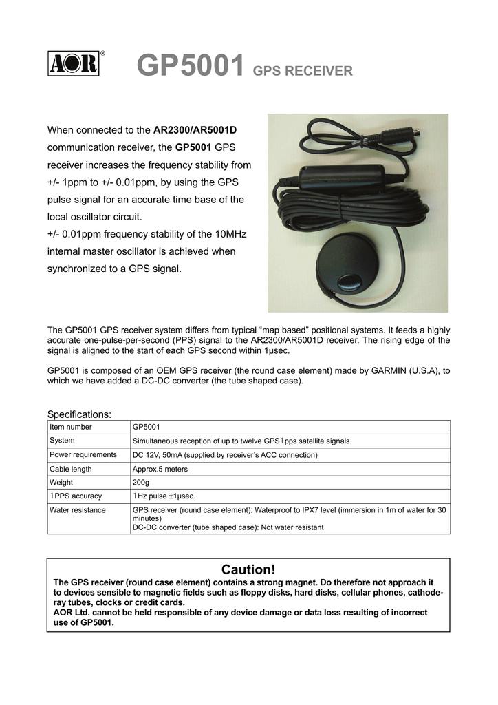 GP5001 GPS RECEIVER | manualzz com