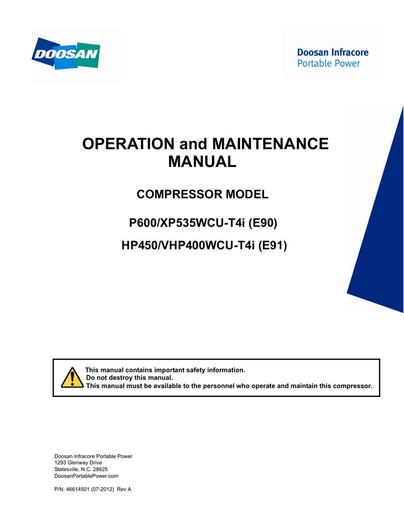 Doosan HP450 Operator Manual | manualzz com