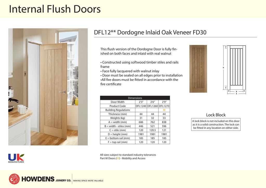 sc 1 st  manualzz.com & Internal Flush Doors DFL12** Dordogne Inlaid Oak Veneer FD30 pezcame.com