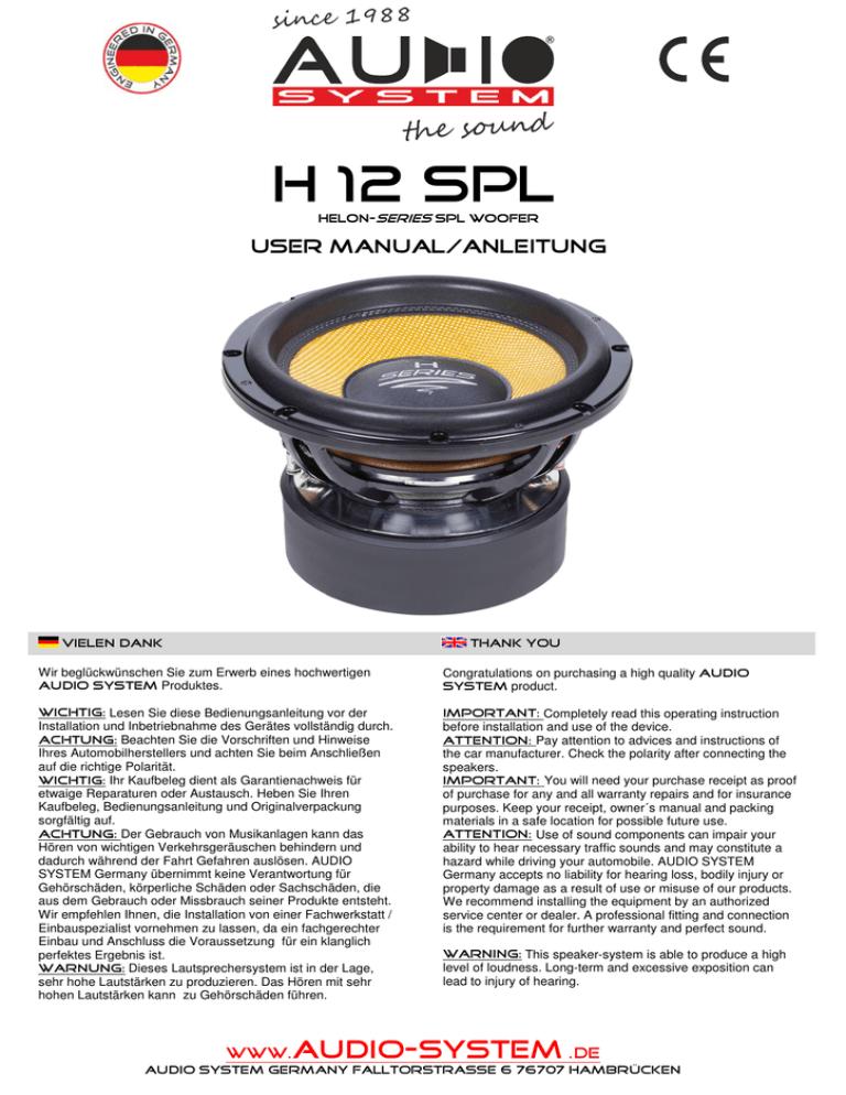 Bda H12 Spl Komplett Manualzz