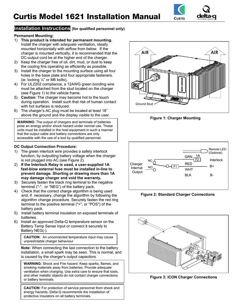 Curtis Model 1621 Installation Manual Installation ... on