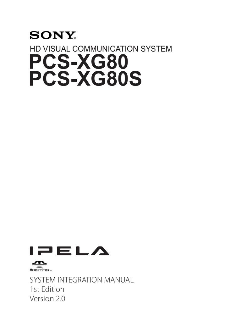 sony pcs xg80 system integration manual v2 1 manualzz com rh manualzz com Sony Logo Sony PS3