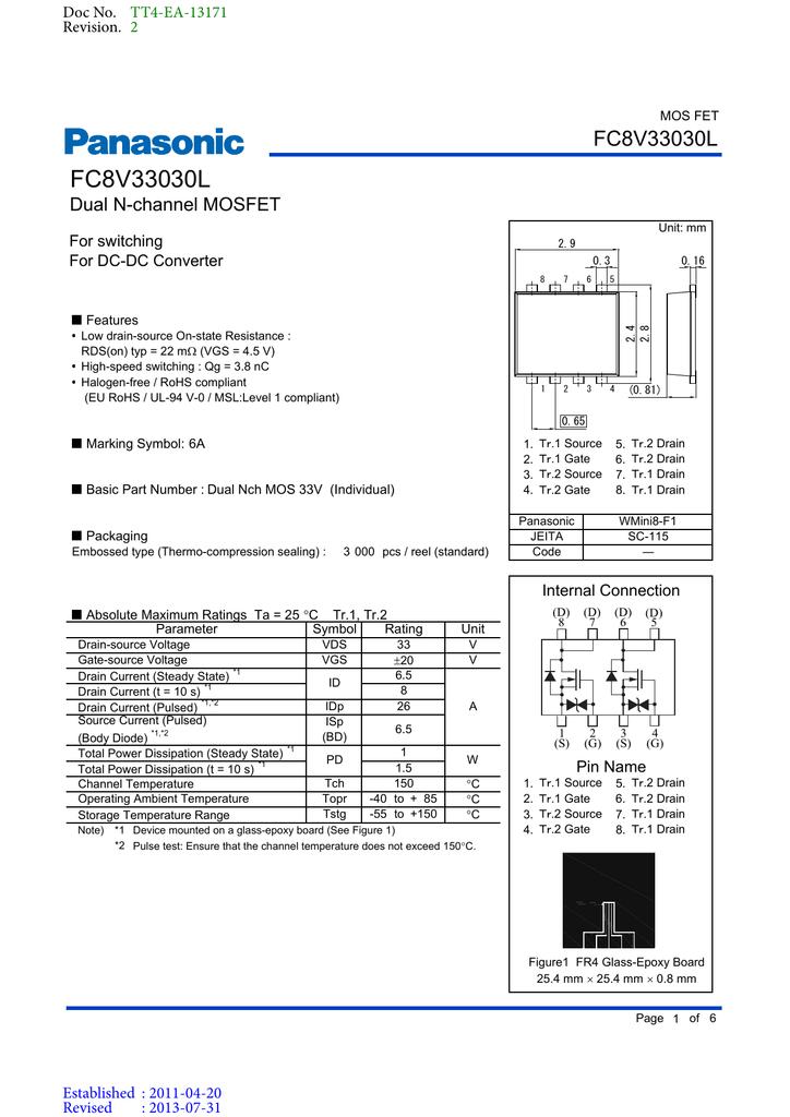 81 A N Channel 4 V 10 V 12 Mohm 60 V 5 x MOSFET Transistor