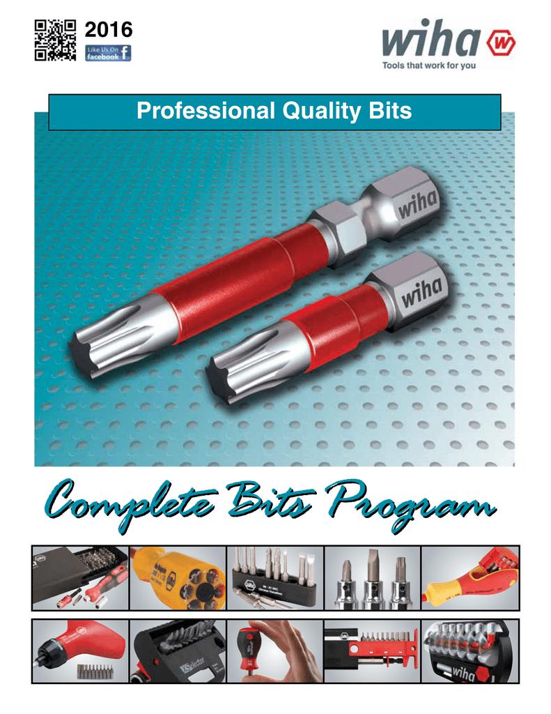 Wiha 72578 Torx® Insert Bit Contractor Set T25 x 25mm 30 pieces