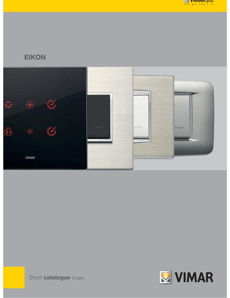 Vimar EIKON Brochure | manualzz com